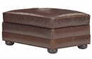 "Sheffield ""Designer Style"" Grand Scale Leather Ottoman"