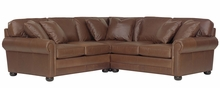 Sheffield Oversized Deep Seat Leather Sectional Sofa