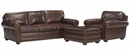 "Sheffield ""Designer Style"" Grand Scale Leather Studio Sofa Set"