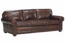 "Sheffield ""Designer Style"" Grand Scale Oversized Leather Loveseat w/ Deep Seats"