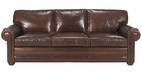 "Sheffield ""Designer Style"" Studio Size Deep Seated Leather Sofa"