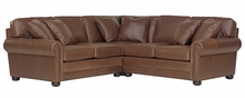 "Sheffield ""Grand Scale"" Leather Sectional"