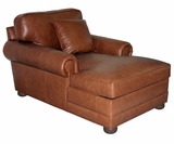 Sheffield Large Scale Leather Chaise Lounge