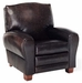 Shelton Designer Style Black Leather Club Reclining Chair