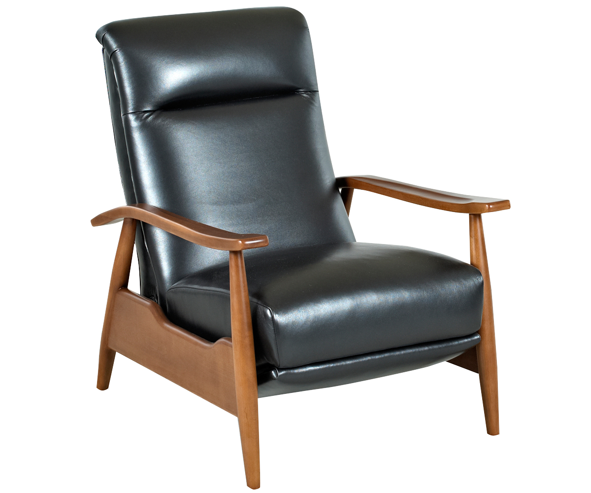 Mid Century Leather Reclining Club Chair : sherman designer style transitional leather reclining club chair 4 from www.clubfurniture.com size 1200 x 1000 jpeg 386kB