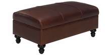 Sinclair Leather Coffee Table Storage Ottoman