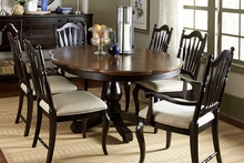 Baylor Casual High/Low Pedestal Table Dining Collection