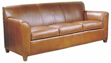 Soho Wing Arm Leather Queen Convertible Sofa