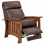 Stockton Leather Mission Recliner w/ Amish-Built Frame