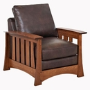 Stockton Mission Leather Chair