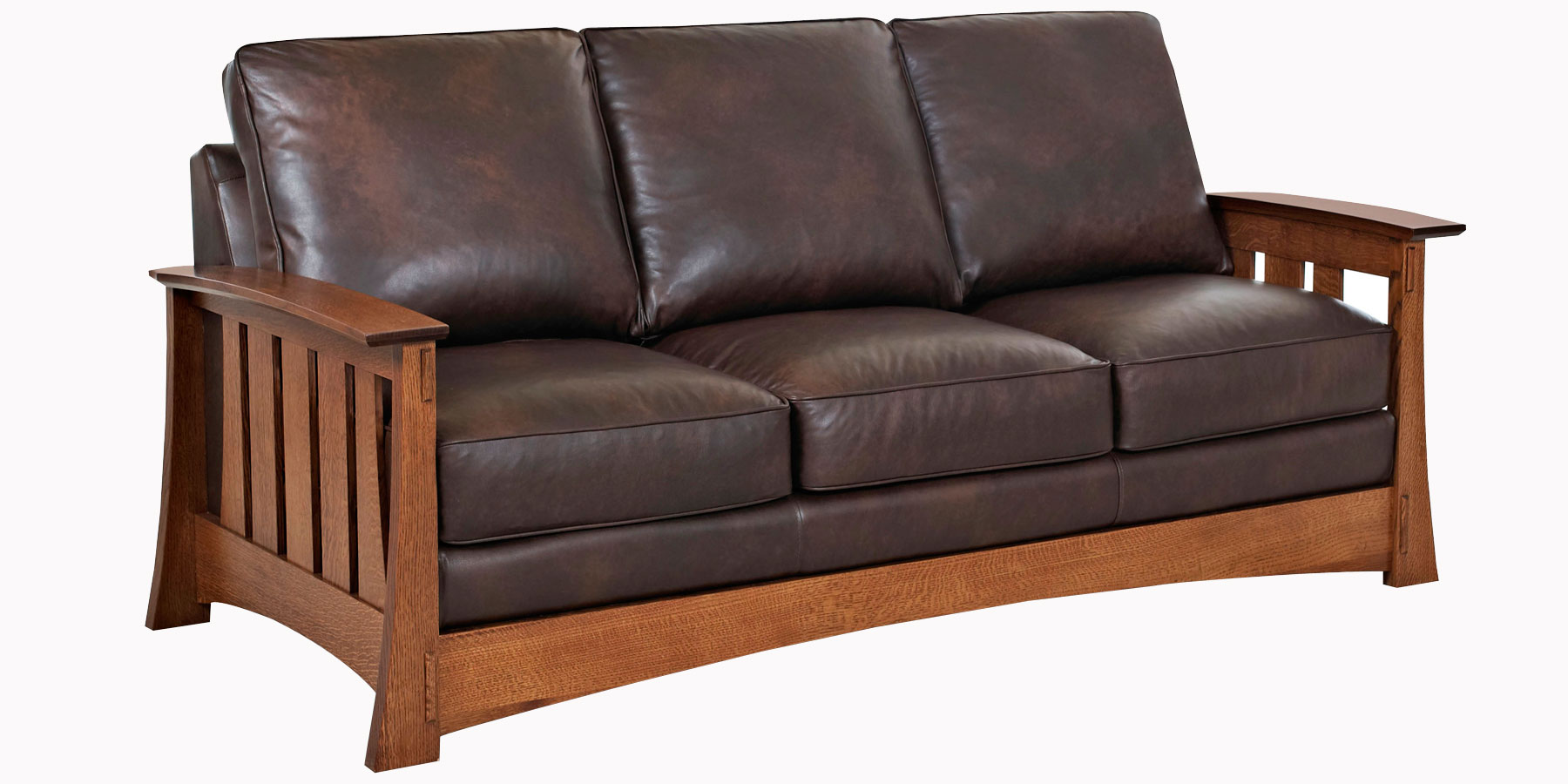 Mission Style Leather Pillow Back Chairs Amp Sofas