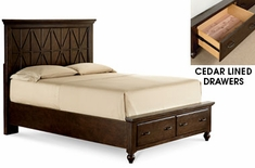 Hunter Casual Wood Panel Storage Bed