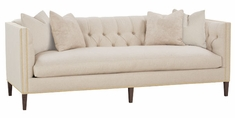 "Astrid ""Designer Style"" Fabric Tufted Back Bench Sofa"