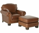 """Theodore """"Designer Style"""" Traditional Leather Club Chair"""