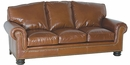 """Theodore """"Designer Style"""" Traditional Leather Loveseat"""