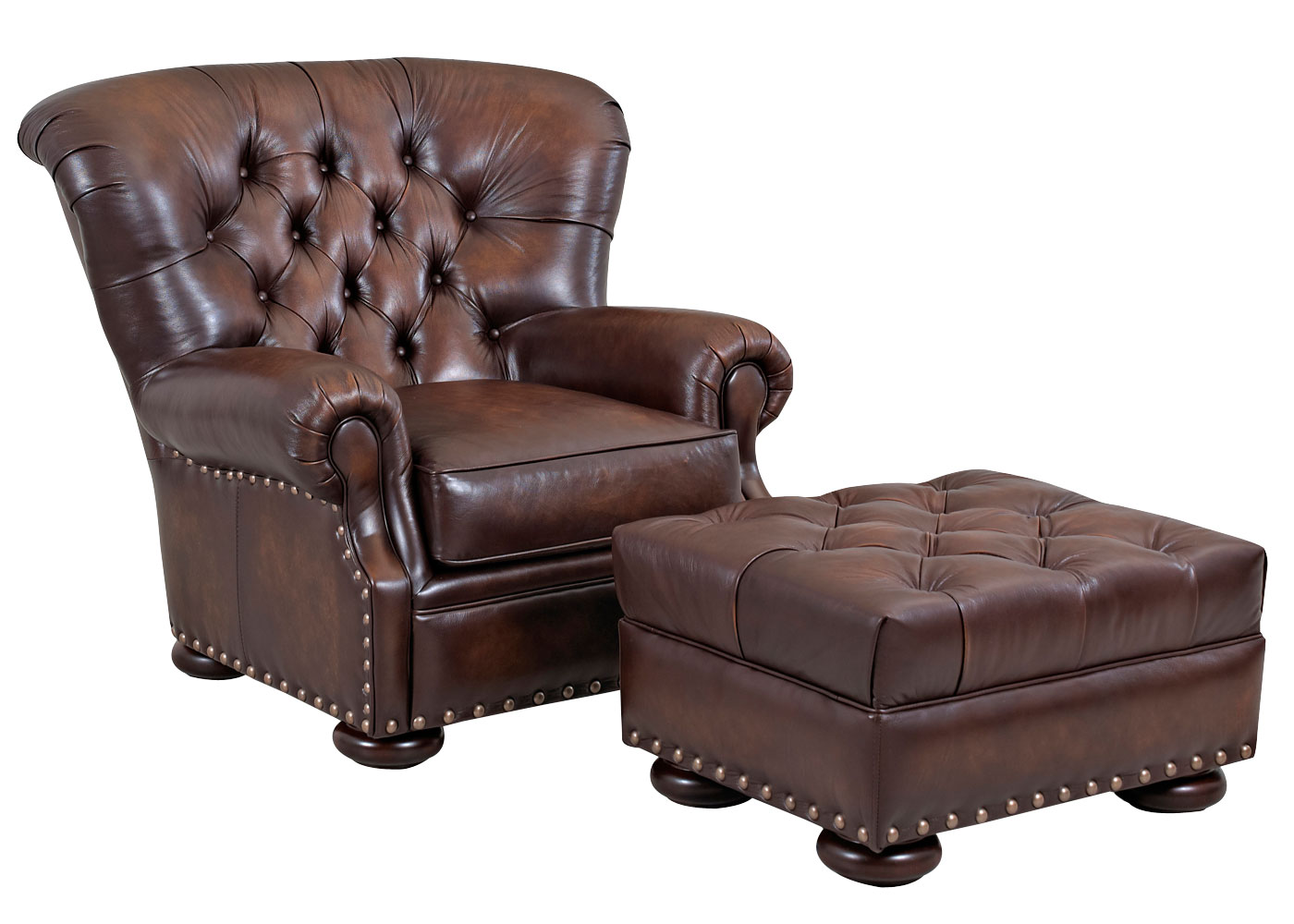 Tufted Back Leather Club Chair