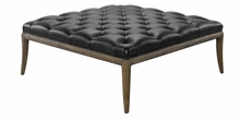 "Titus ""Quick Ship"" Leather Tufted Bench"