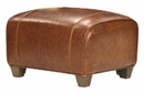 "Tribeca ""Designer Style"" Leather Ottoman"