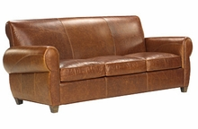 Tribeca Tight Back Cigar Leather Queen Sleeper