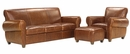 "Tribeca ""Designer Style"" Rustic Leather Furniture Sofa Set"
