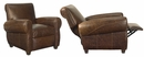 "Tribeca ""Designer Style"" Rustic Leather Recliner"