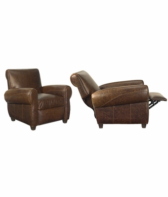 Tribeca rustic leather recliner chair