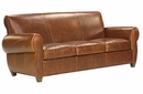 "Tribeca ""Designer Style"" Rustic Leather Sofa"