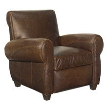 Tribeca Rustic Vintage Leather Reclining Chair