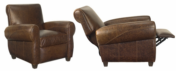 Distressed Leather Recliner Chair (Vintage Style) | Club Furniture
