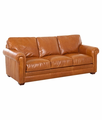 "Wayne Traditional ""Grand Scale"" Leather Sofa"
