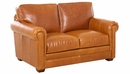 Wayne Traditional Leather Loveseat