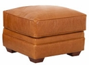 Wayne Traditional Leather Ottoman