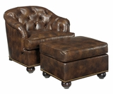 Welby Tufted Leather Tub Chair