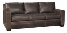 Wellington Leather Pillow Back Couch