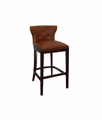 Wells Quot Ready To Ship Quot Leather Tufted Low Back Bar Stool