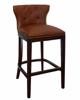 "Wells ""Ready To Ship"" Low Back Leather Bar & Counter Stool Collection"