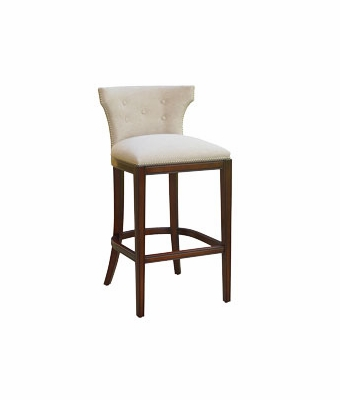 Wells Quot Ready To Ship Quot Tufted Fabric Low Back Fabric Barstool