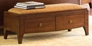 Wendell Collection Bedroom Bench w/ Upholstered Top