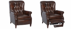 Wentworth Narrow Tufted Back Leather Recliner
