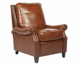 "Winchester ""Quick Ship"" Traditional Pillow Back Leather Reclining Chair"