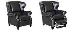 Windsor Leather Wingback Reclining Chair