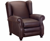 Winston Wingback Leather Recliner