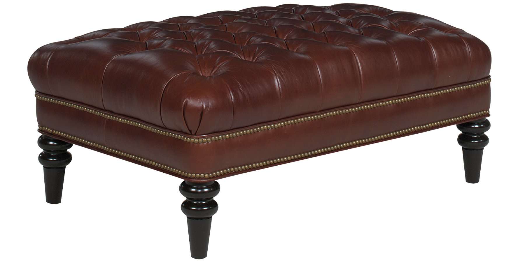 Upholstered Tufted Bench Coffee Table With Nailhead Trim