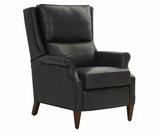 Wright Bustle Wing Back Leather Recliner