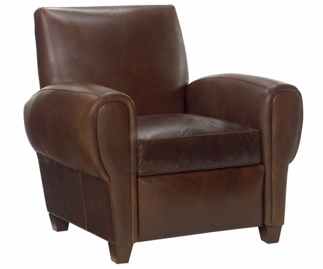 Zachary Reclining Club Chair In Leather