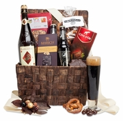Craft Beer, Snacks & Chocolate Basket