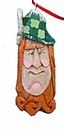 Irish Santa Claus Face Christmas Ornament #14021