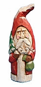 Hand Carved Old World Santa Claus #13213