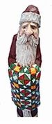 Hand Carved Santa Claus with Quilt #14020
