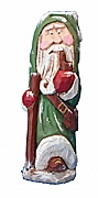 Old World Santa Claus woodcarving #16037